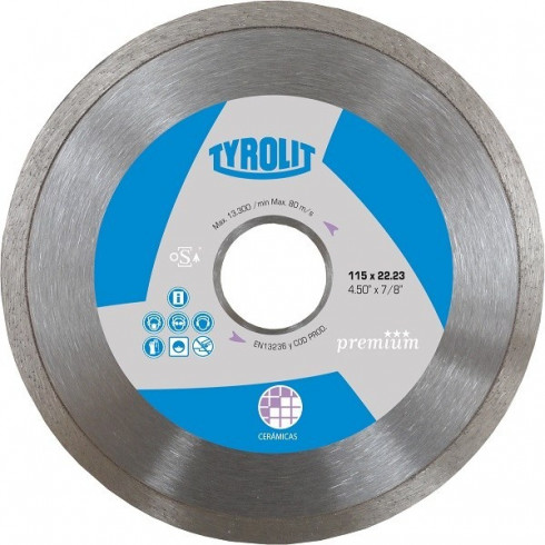 DISCO DIAMANTADO PREMIUM - CONTINUO CERAMICA 115 MM. - 4.5""