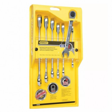 SET DE LLAVES COMBINADAS RATCHET STMT74080 9-10-11-12-13-14-15 MM STANLEY