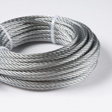 CABLE DE ACERO NATURAL 19 X 7 AG. AAC RD - 6 MM. IPH