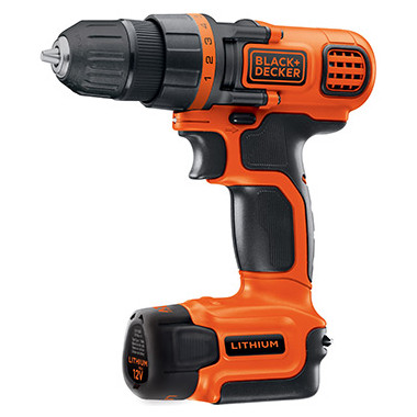 TALADRO ATORNILLADOR LD112-AR / ION LITIO 12 V BLACK & DECKER